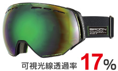 3.F:Shiny BLACK  L:BROWN/GREEN Revo   mirror
